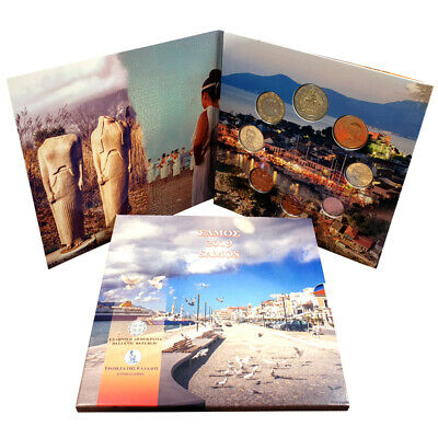 Greek KMS 2019 st 1 Cent - 2 Euro Samos in Folder only 10000 Piece