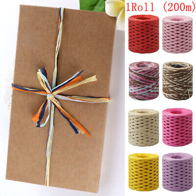 1 Roll DIY Raffia Ribbon Paper String Baking Rope Handwork Wrapping Craft Gifts