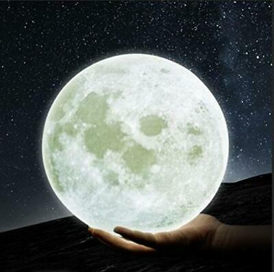 GPJOY Moon Lamp 3D Printing Night Light Rechargeable Lunar 5.7 inch