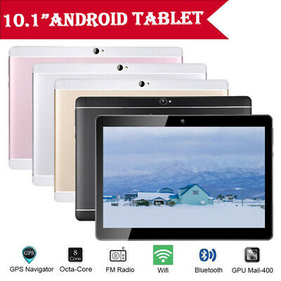 10.1'' Tablet PC 4+64GB Android 8.1 Octa Core Dual SIM&Camera Wifi+3G Phablet UK