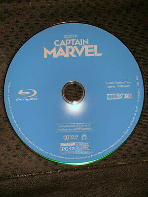 Captain Marvel 2019 Blu-Ray ONLY with CD Case No DVD/Digital SAVE$$$ CombineShip