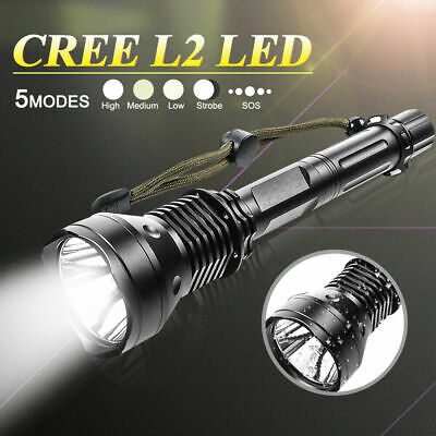 CREE XM-L2 9000Lm 18650 Rechargeable Battery USB LED Detachable Flashlight Torch