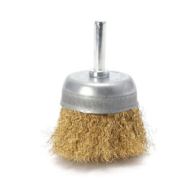 50mm Copper Wire Cup Brush Metal Rust Removing Brush Polishing Brush For Drill