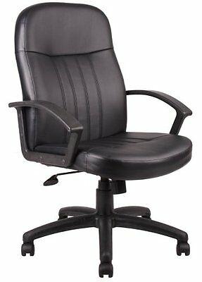 Boss Office Products Leatherplus Exec. Chair W- Oak Finish B8106 New