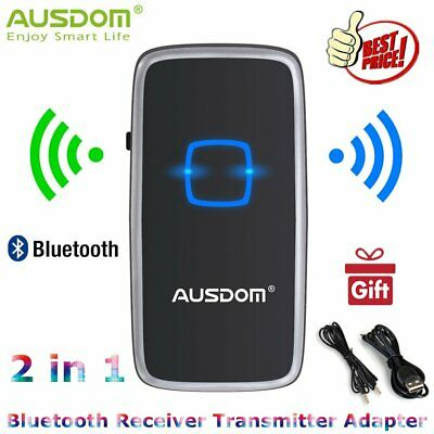Ausdom 2in1 Bluetooth V4 Transmitter & Receiver Wireless Audio 3.5mm Aux Adapter