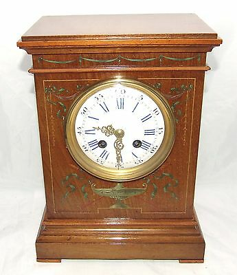 Antique French Hepplewhite Style Mahogany Mantel Bracket Clock CLEANED SERVICED