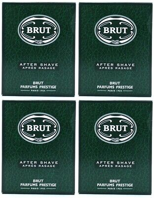 4 x 100ml Brut Original Aftershave (Boxed)