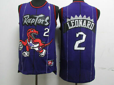 HOT Toronto Raptors #2 Kawhi Leonard Retro Swingman Basketball Jersey Purple