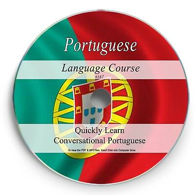 Portuguese Language Course - 69 Hours Audio MP3 - Textbook PDF Portugese DVD 167