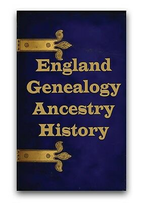 England History & Genealogy Books on DVD -Trace English Family Tree Ancestry A5