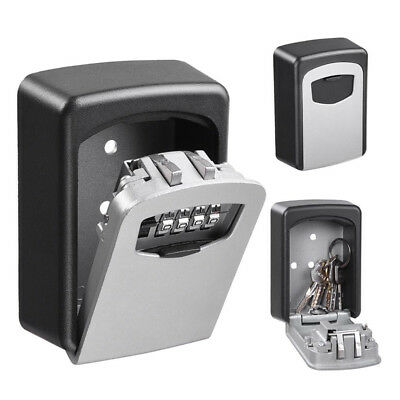 Key Lock Box Outside Wall Mount Safe Storage Security Combination Code House