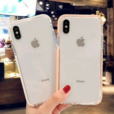 For iPhone 6s 7 8 Plus XS Max XR Case Clear Thin Soft Silicone Shockproof Cover