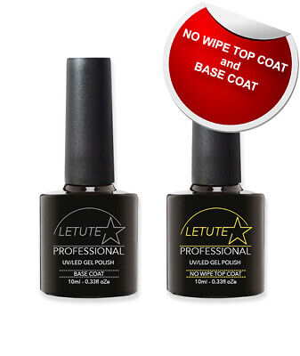 LETUTE™ No Wipe Top and Base Coat - Professional UV/LED Soak Off Nail Gel Polish
