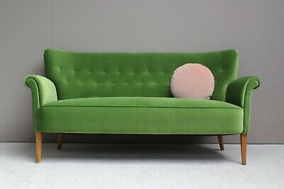 Refurbished Danish 1950s Two 1/2 Seater Sofa Midcentury 50s