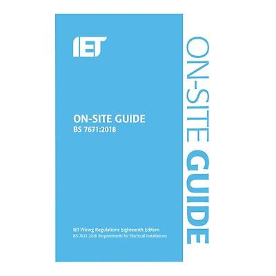 IET Publishing BS7671:2018 On-Site Guide