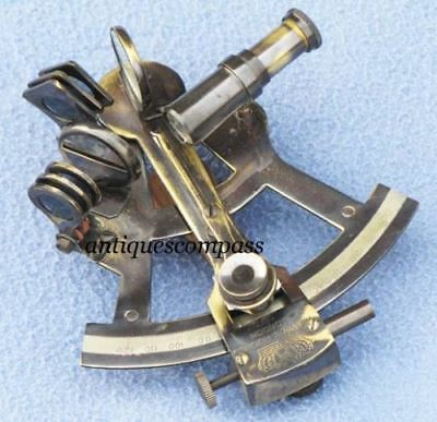 """Collectible Brass Sextant, Nautical Marine Sextant 4"""" Vintage Antique Finish"""
