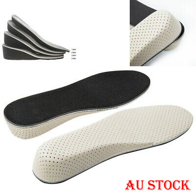 Men Women Invisible Insoles Heel Lift Taller Shoe Inserts Height Increase Pad AU