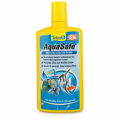 TETRA AQUASAFE AQUARIUM WATER TREATMENT 100ml 250ml 500ml