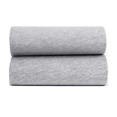 Clair De Lune Fitted Sheets for Moses Baskets - Pack of 2 (Grey Marl)