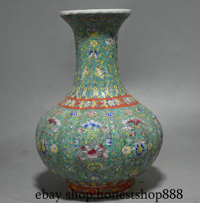 "14.4"" Marked Old Chinese Wucai Porcelain Dynasty Palace Flower Bottle Vase"
