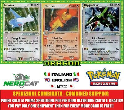 🍀Carte Pokémon RARE SET EX DRAGO lotto Pokemon Spedizione combinata🍀