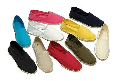 Womens Hessian Espadrilles Summer Plimsoles Crochet Canvas Shoes Ladies Size