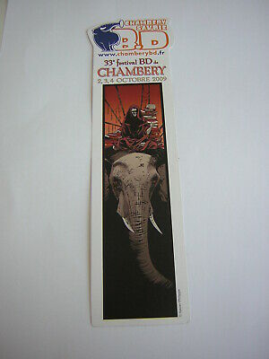Ancien Marque-Pages Signet Bookmark Publicitaire Festival Bd Chambery