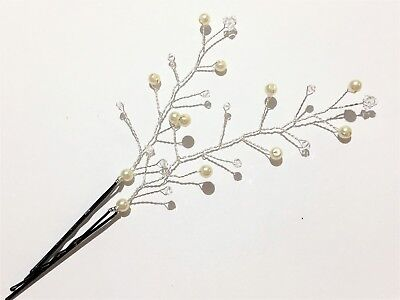 2 Hair Vine Grips/Pins Black/Rose Gold Wire With Your Colour Swarovski Crystal