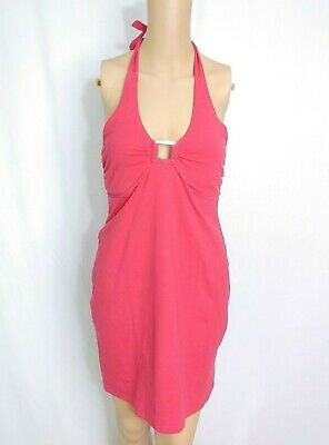 8e4326a0a273 Victorias Secret Bra Top Halter Sundress S Magenta Pink Jersey Summer Beach