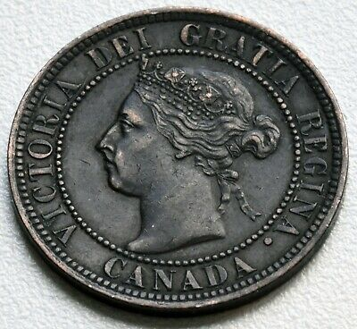 c 1900 Victorian Canada 1 Cent Coin