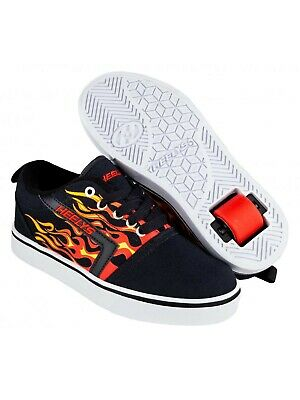 Heelys Black-Red Flames GR8 Pro Kids One Wheel Shoe