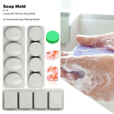 4-grids DIY Silicone Soap Mold for Handmade Soap Making Forms Baking Mould
