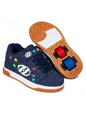 Heelys Navy-Multi-Asteroid Dual Up X2 Kids Two Wheel Shoe