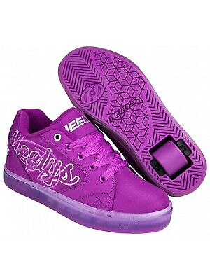 Heelys Grape-Silver Vopel Kids One Wheel Shoe