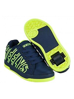 Heelys Navy-Bright Yellow Split Kids One Wheel Shoe