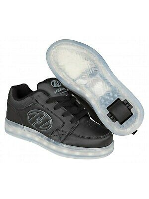 Heelys Black-Grey Premium 2 Lo Kids One Wheel Shoe