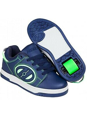Heelys Navy-Bright Green Voyager Kids One Wheel Shoe