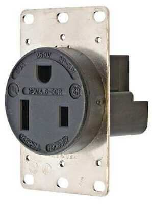 HUBBELL WIRING DEVICE-KELLEMS HBL9367 50A Single Receptacle 250VAC 6-50R BK