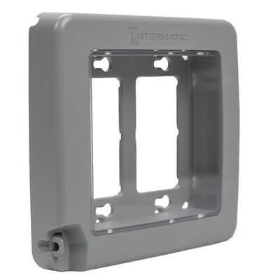INTERMATIC WP6200G Low-Profile Plastic In-Use WP 2-Gang 16 Configurations Gray