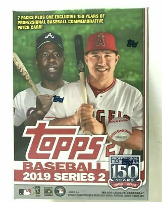 2019 Topps Series 2 Baseball BLASTER BOX (7 Packs + 1 Exclusive Patch Relic)