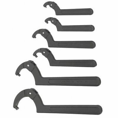 Snap-On Industrial Brands WS-476 Williams Spanner Wrench Set,Adj. Pin,6 Pieces
