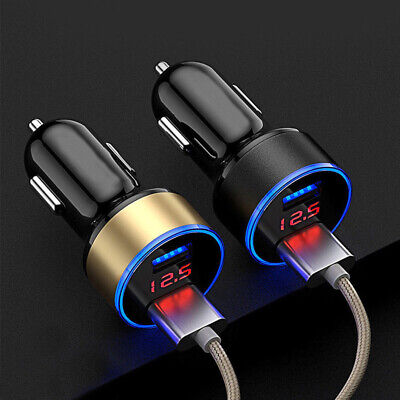 12V-24V Car Quick Charger 3.1A Dual USB Port Cigarette Lighter Adapter Voltage