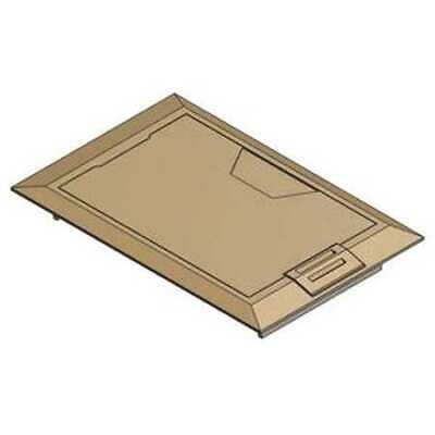 STEEL CITY 664-CST-M-BRS Floor Box Cover,8-3/8 in.,Brass