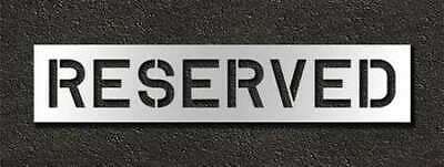 RAE STL-116-71033 Pavement Stencil,Reserved,10 in