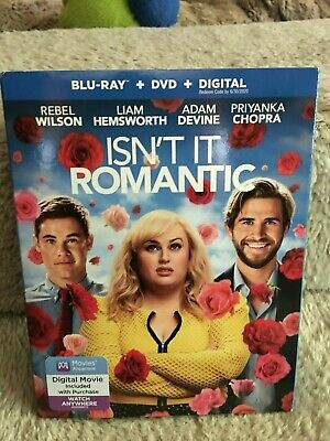 New Isn't It Romantic  (Blu-Ray & Dvd & Digital) With Slipcover  Rebel Wilson