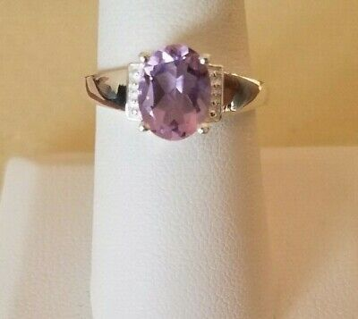 Rose De France Amethyst 925 Sterling Silver Ring (Size 8) 1.75 CTS