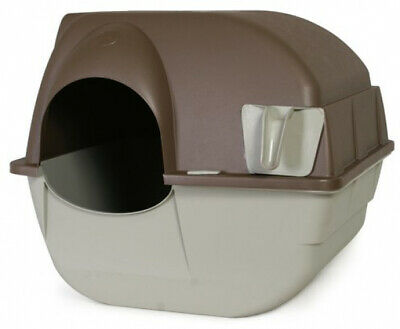 CAT LITTER BOX Self Fast Clean Waste Scoop Removable Tray Automatic Roll N Clean