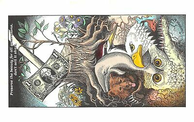 C20-5761, Animated Political Card With Animals, Flying Rabbit Baltimore, Md