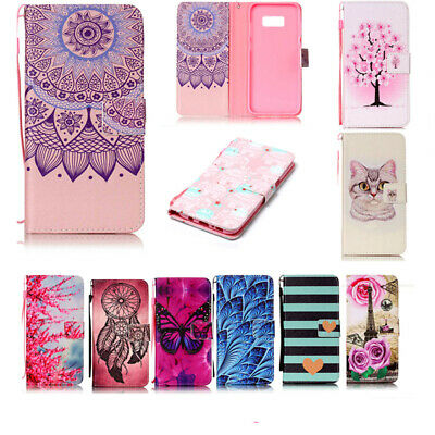 Wallet Stand Case Flip Folding Cover PU Leather Phone Case For LG Smartphone