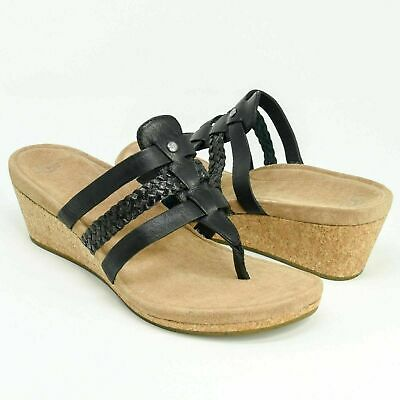 28550b4ecd UGG Australia Womens Maddie Leather Open Toe Casual Platform Sandals 8.5 US  NIB